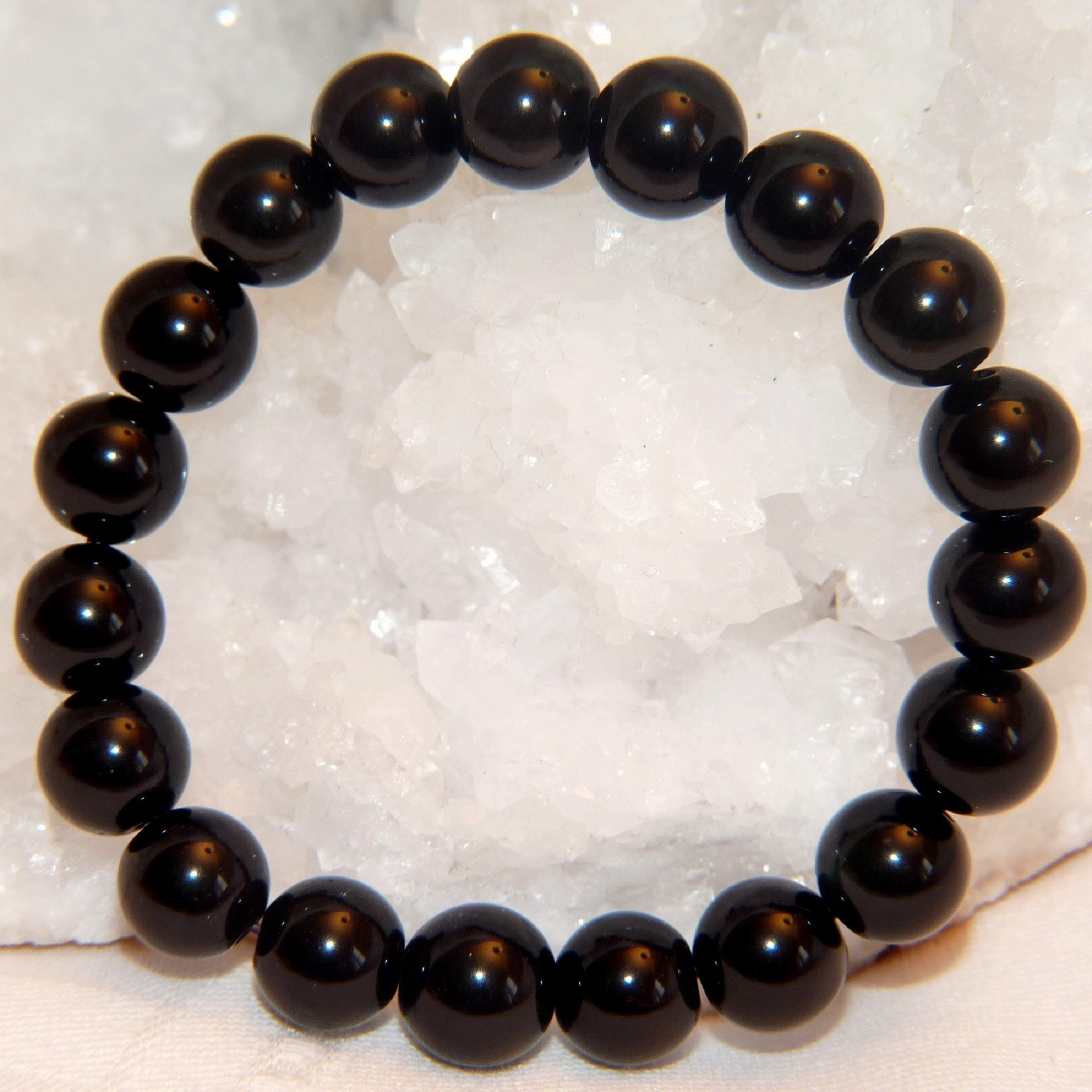 bracelet obsidienne 10 mm 2